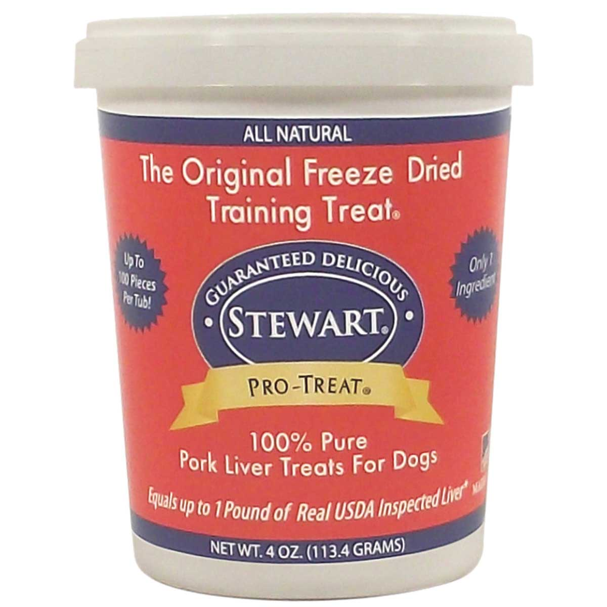 4 ounces Stewart Freeze Dried Pork Liver Pro-Treats For Dogs