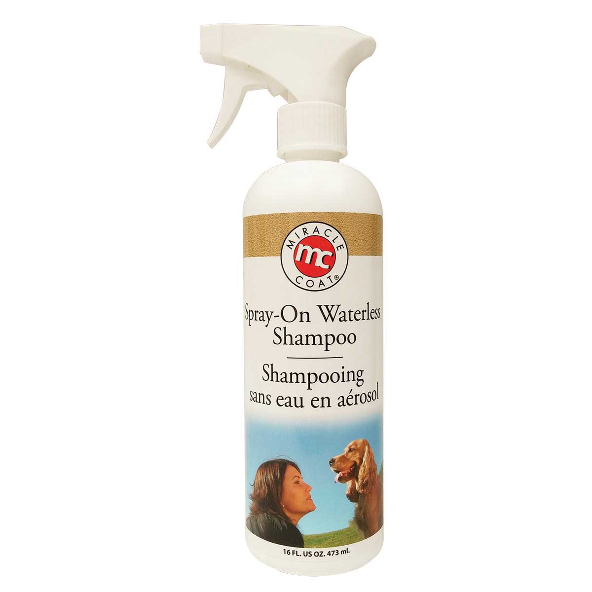 Miracle Care Spray-On Waterless Shampoo for Dogs - 16 oz