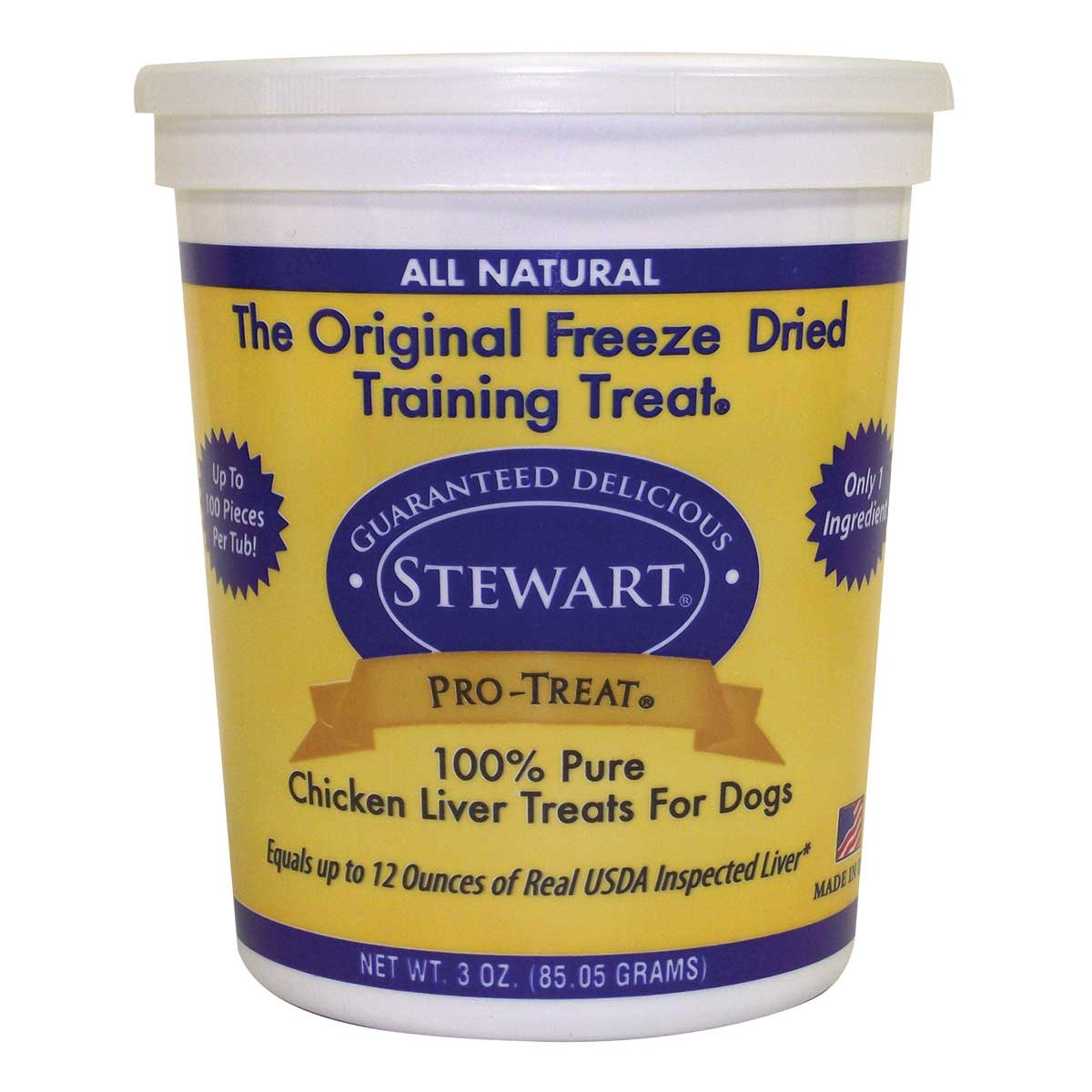 Freeze Dried Chicken Liver Stewart Pro-Treats For Dogs