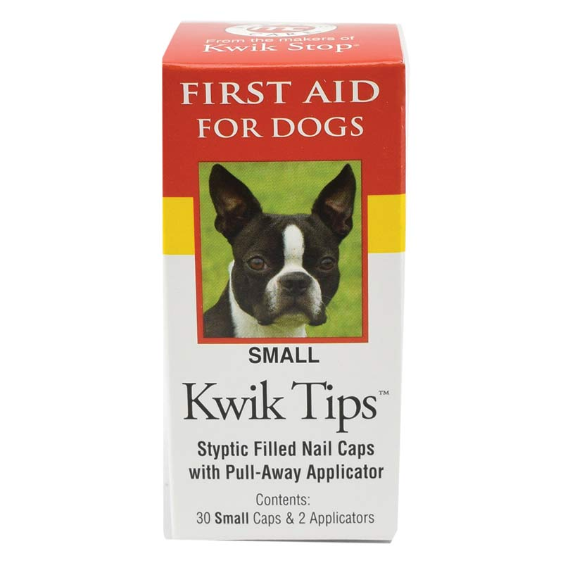 Small Kwik Tips Styptic Filled Nail Caps for Dogs