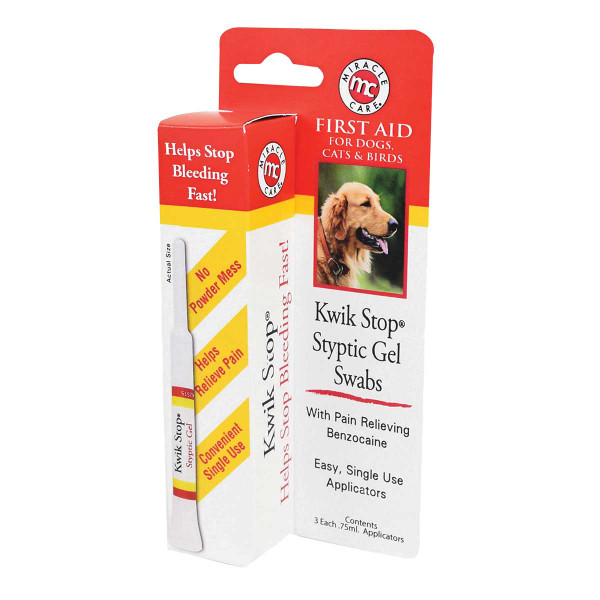 Kwik Stop Styptic Gel Swabs for Dogs