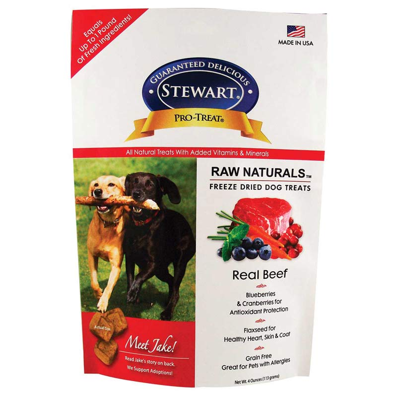 4 oz Stewart Pro-Treats Raw Naturals Dog Treats Beef