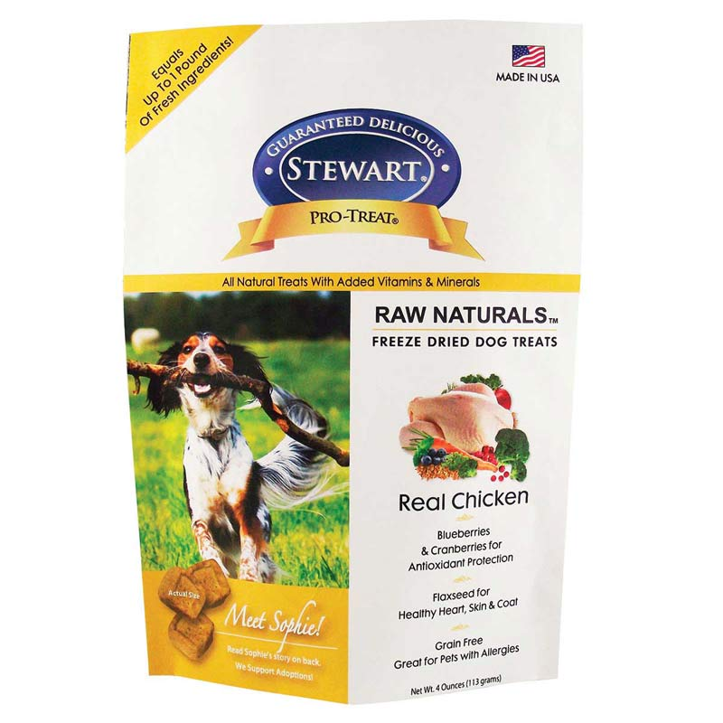 Stewart Pro-Treats Raw Naturals Freeze Dried Chicken Dog Treats 4 oz