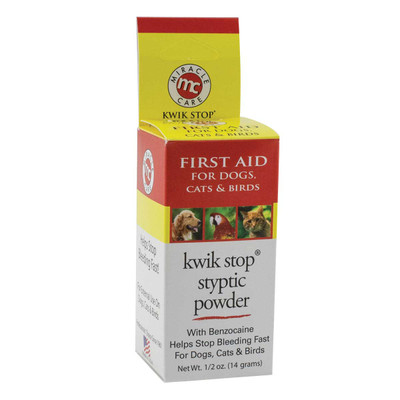 Kwik Stop 0.5 oz Styptic can be used on Birds, Cats, and Dogs