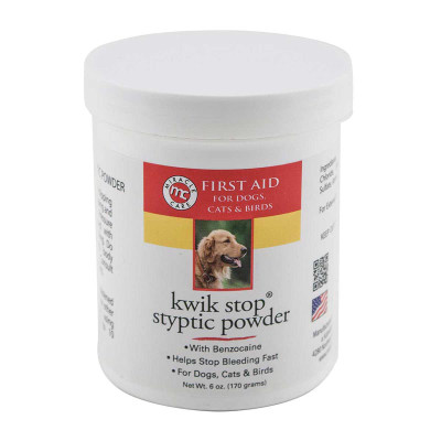 Stop Bleeing with Kwik Stop Styptic Powder 6 oz