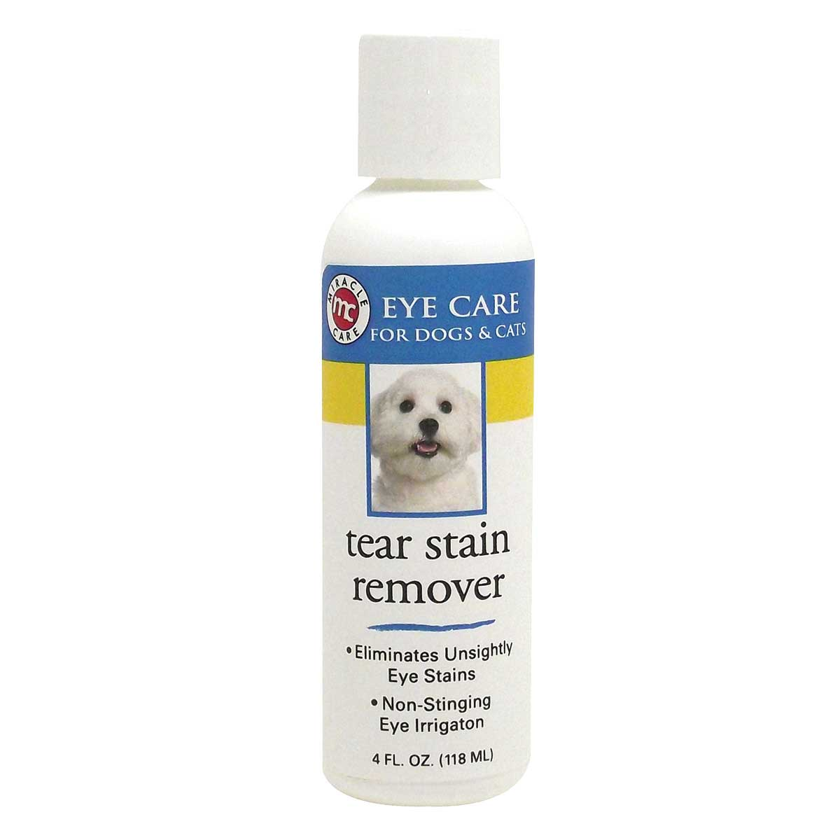 Miracle Care Eye Clear Tear Stain Remover for Cats and Dogs 4 oz