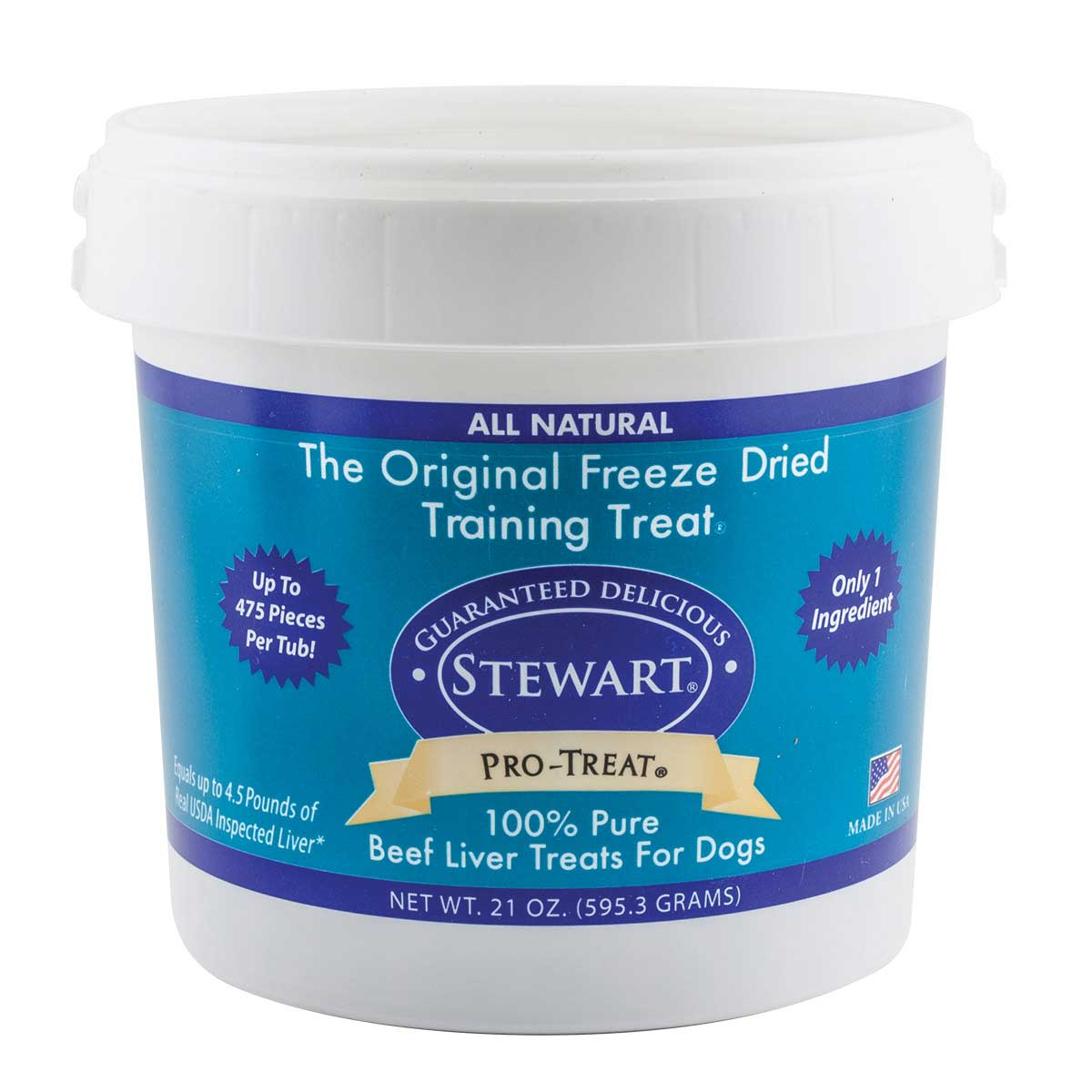 Stewart Freeze Dried Beef Liver Pro-Treats For Dogs 21 oz