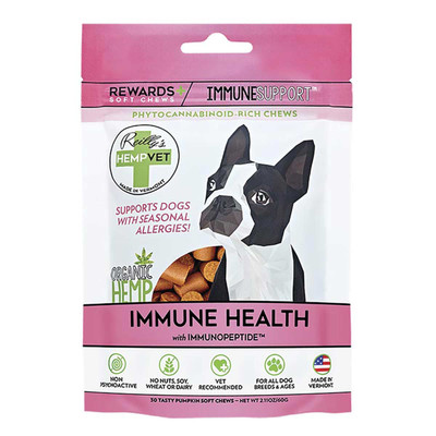 Reilly's Hemp Vet Immunity Rewards CBD Treats for Dogs 30 Count