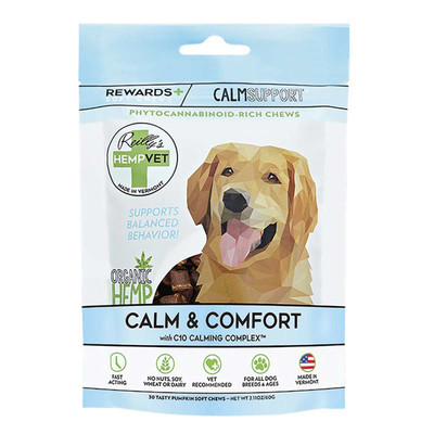 Reilly's Hemp Vet Calm Rewards 30 Count CBD treats for Dogs