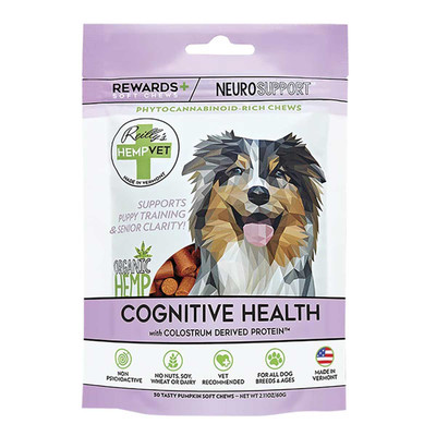 Reilly's Hemp Vet Neuro Rewards CBD Treats for Dogs 30 Count
