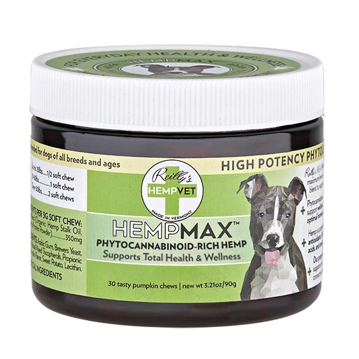 High Potency Cellular Health and Wellness 30 Count CBD Treats for Dogs