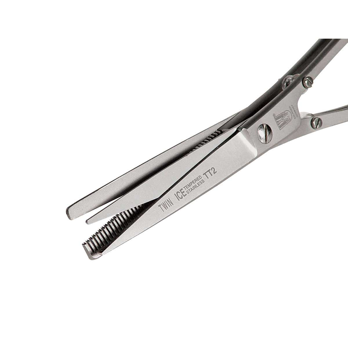 close Up of Rose Line Double Thin Cutting and Thinning Shears 6.5 inch