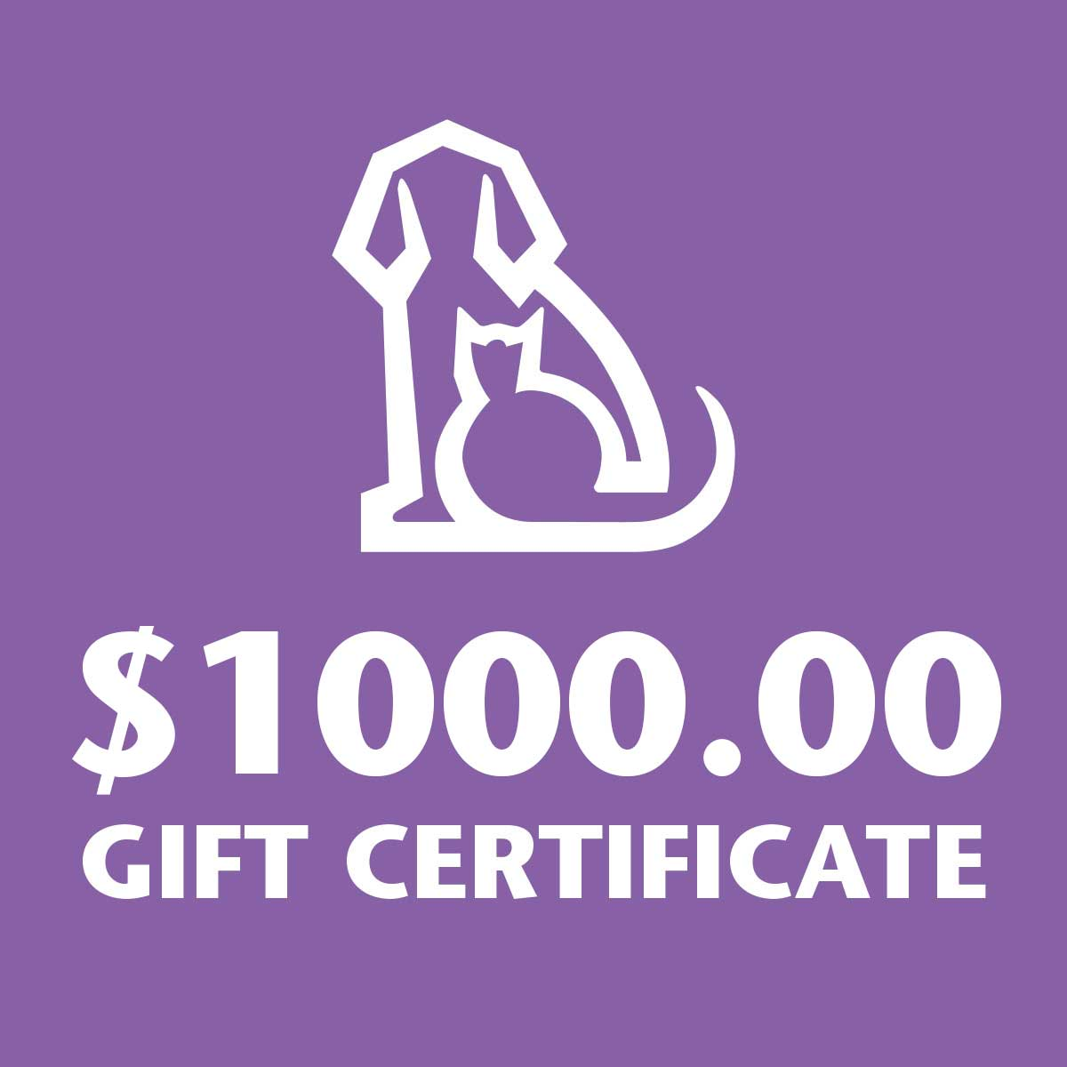1000 Gift Certificate