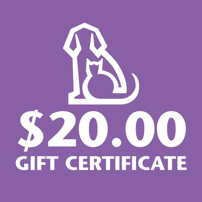 Gift Certificate to Ryan's Pet Supplies for 20 Dollars