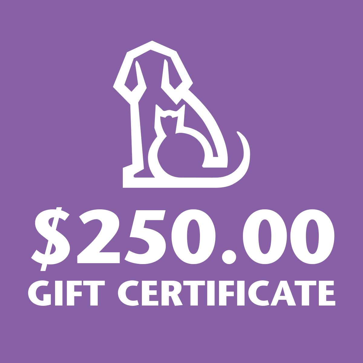 250 Dollar Gift Certificate to Ryans Pet Supplies