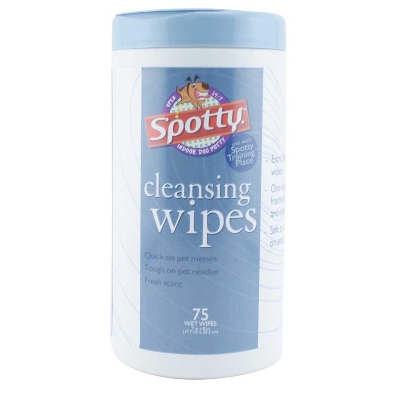 Spotty Cleansing Wipes for Pet Messes and Waste 75 count