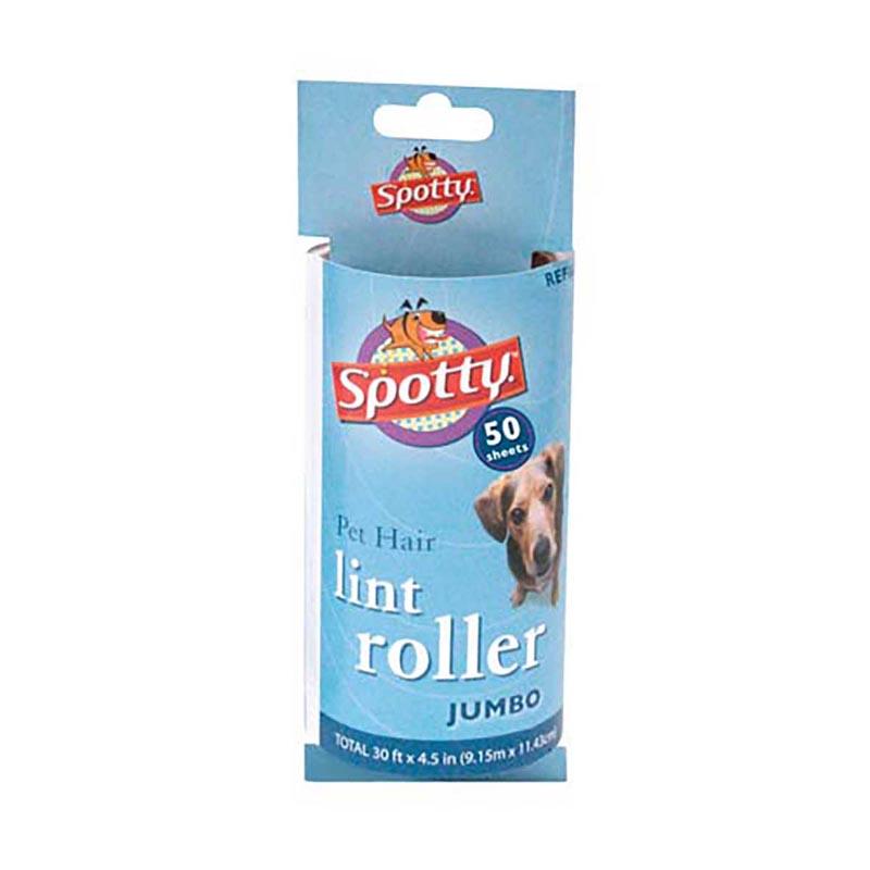 Spotty Pet Hair Lint Roller Jumbo 50 Sheet Refill