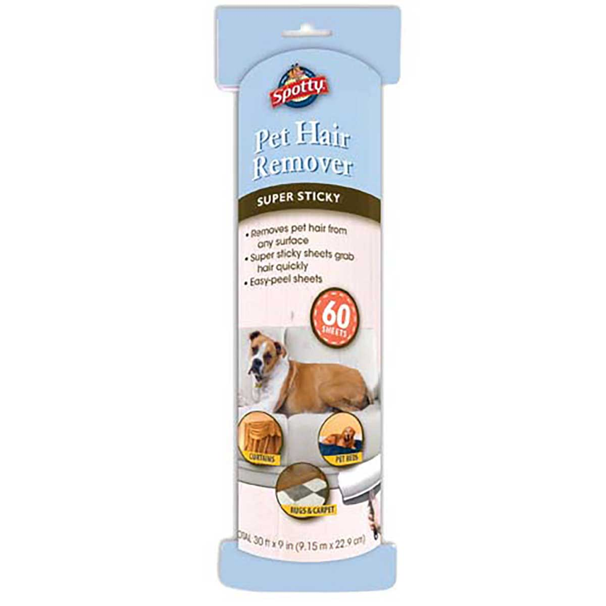 Pet Hair Lint Roller Super-Size Refill with 60 Sheets