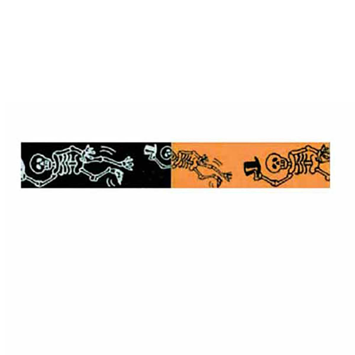 Halloween Dancing Bones Printed Ribbon - 50 Yards