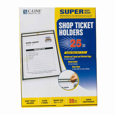 Box of 25 C-Line Shop Ticket Holders