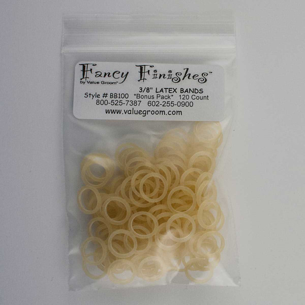 Bag of 100 Latex Bands 3/8 inch Amber for Bows
