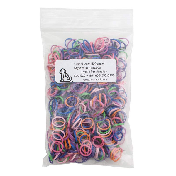 Neon Rosin-Coated Synthetic-Rubber Bands 500 count