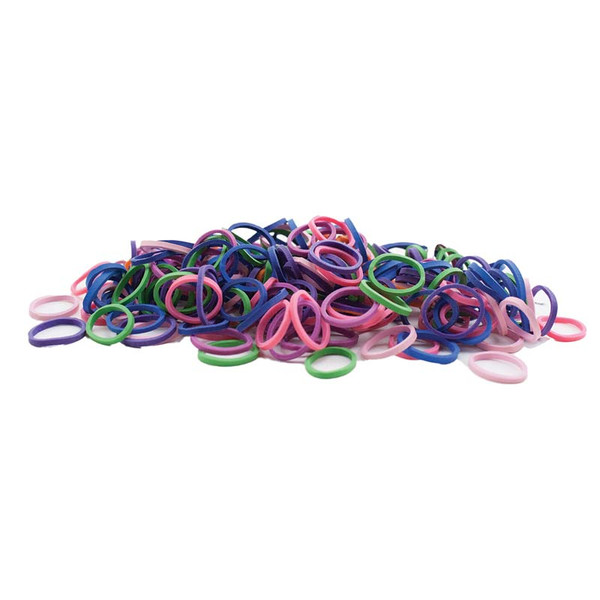 Rosin-Coated Synthetic-Rubber Bands in Neon