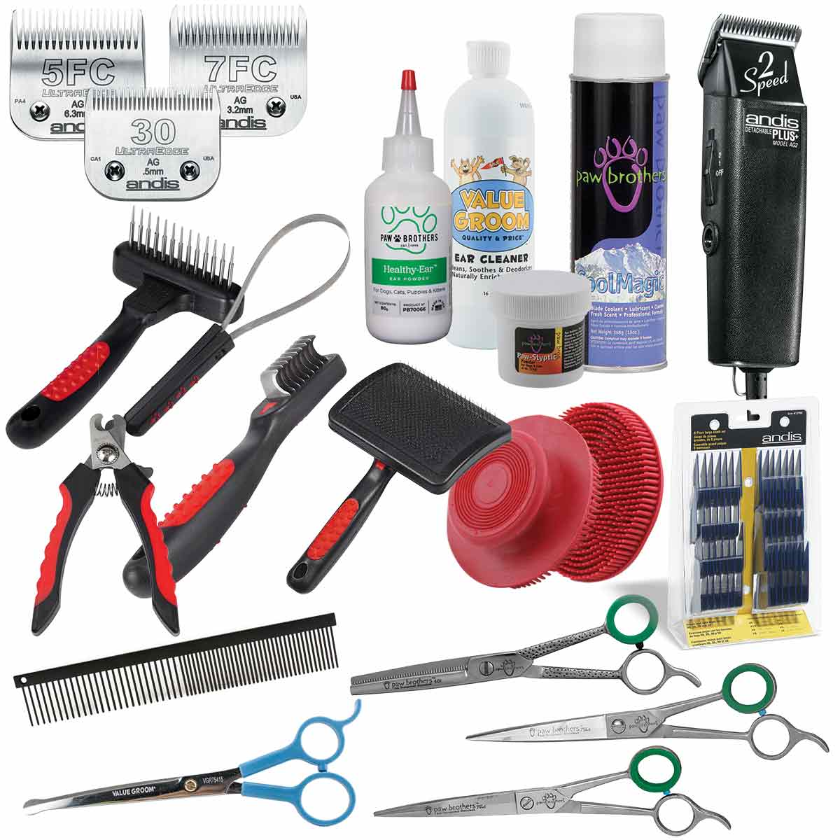 Paw Brothers Basic Grooming Kit with Andis Clippers - Everything a Grooming Student Needs