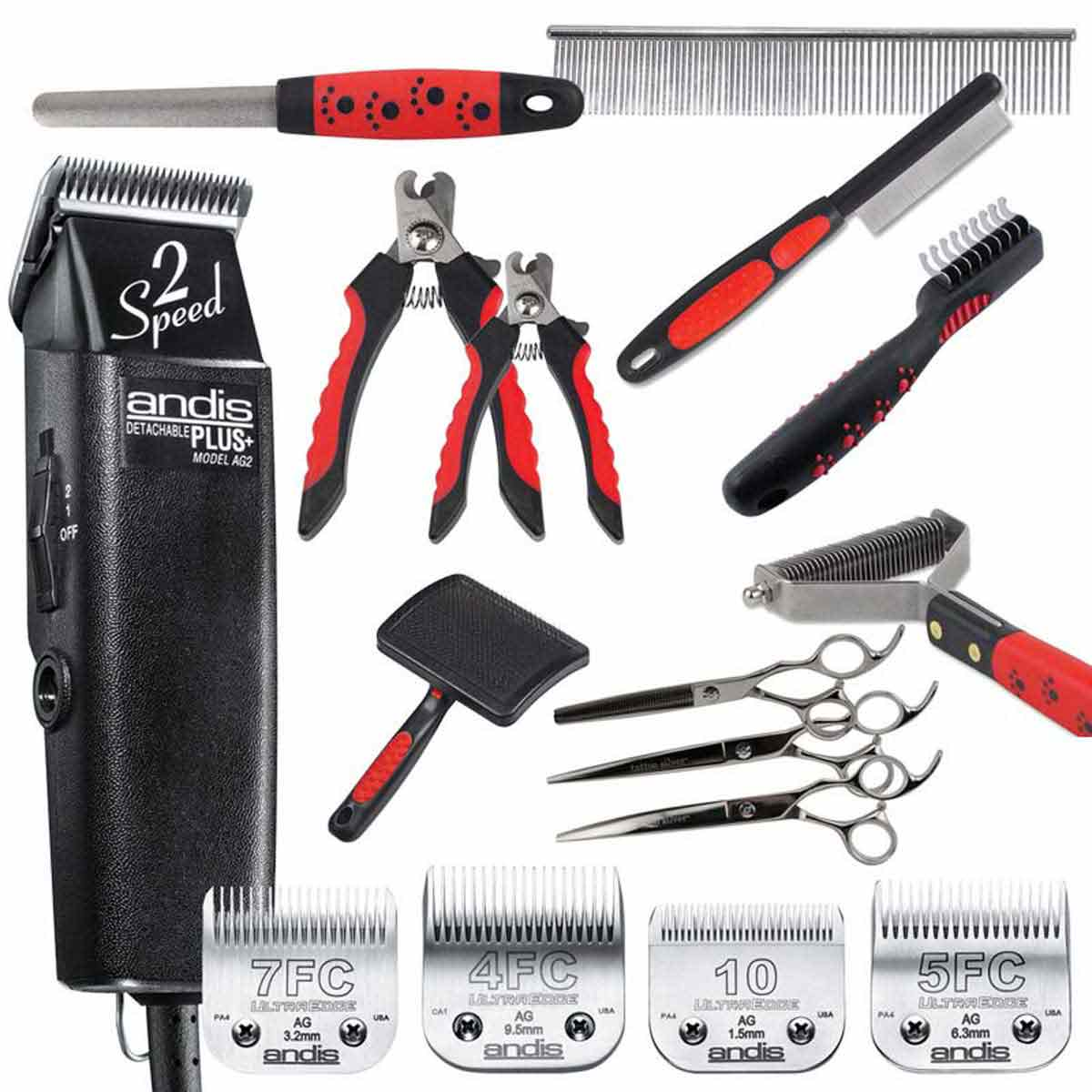 Grooming Kit includes Clippers, Tools, Blades, and more!
