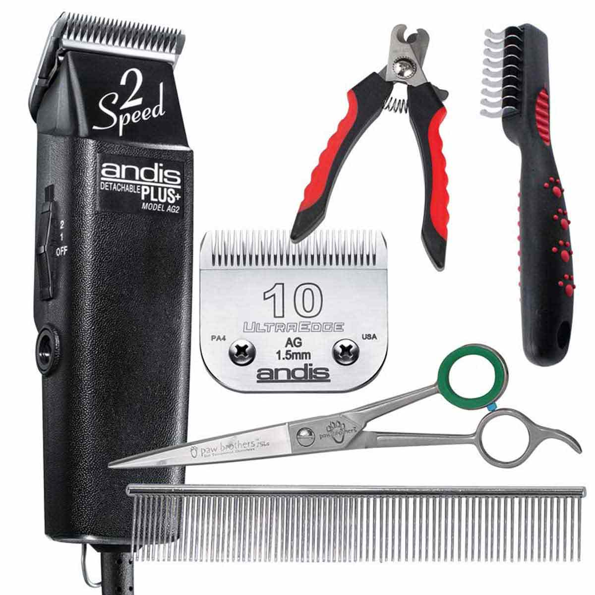 Andis 2 Speed AG Clipper Grooming Tool Kit