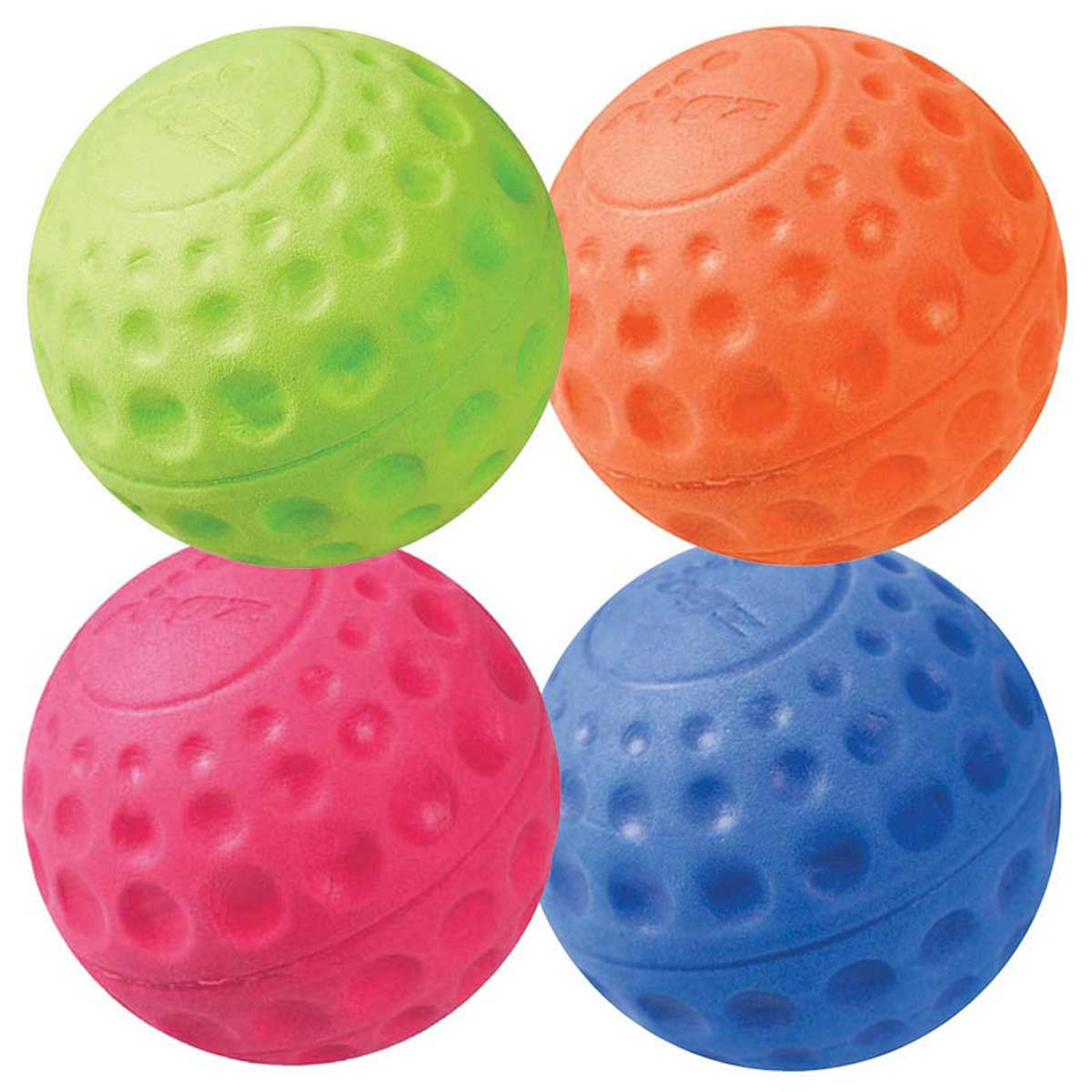 Various Colors ROGZ Asteroidz Ball Dog Toy Medium 2.5 inches