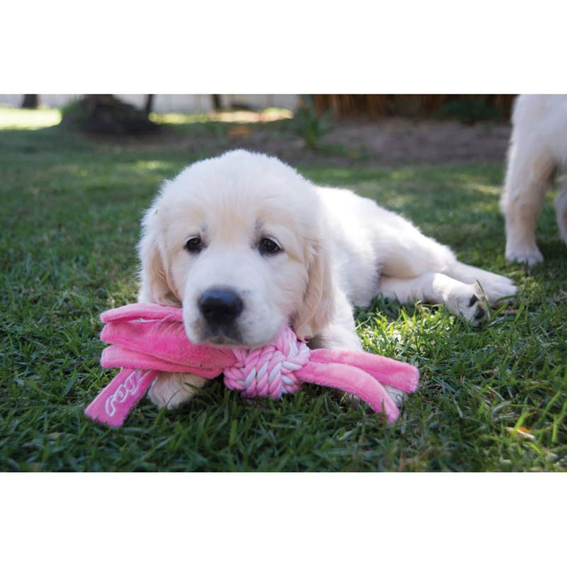 ROGZ Cowboyz Medium Dog Knot Toy in Pink