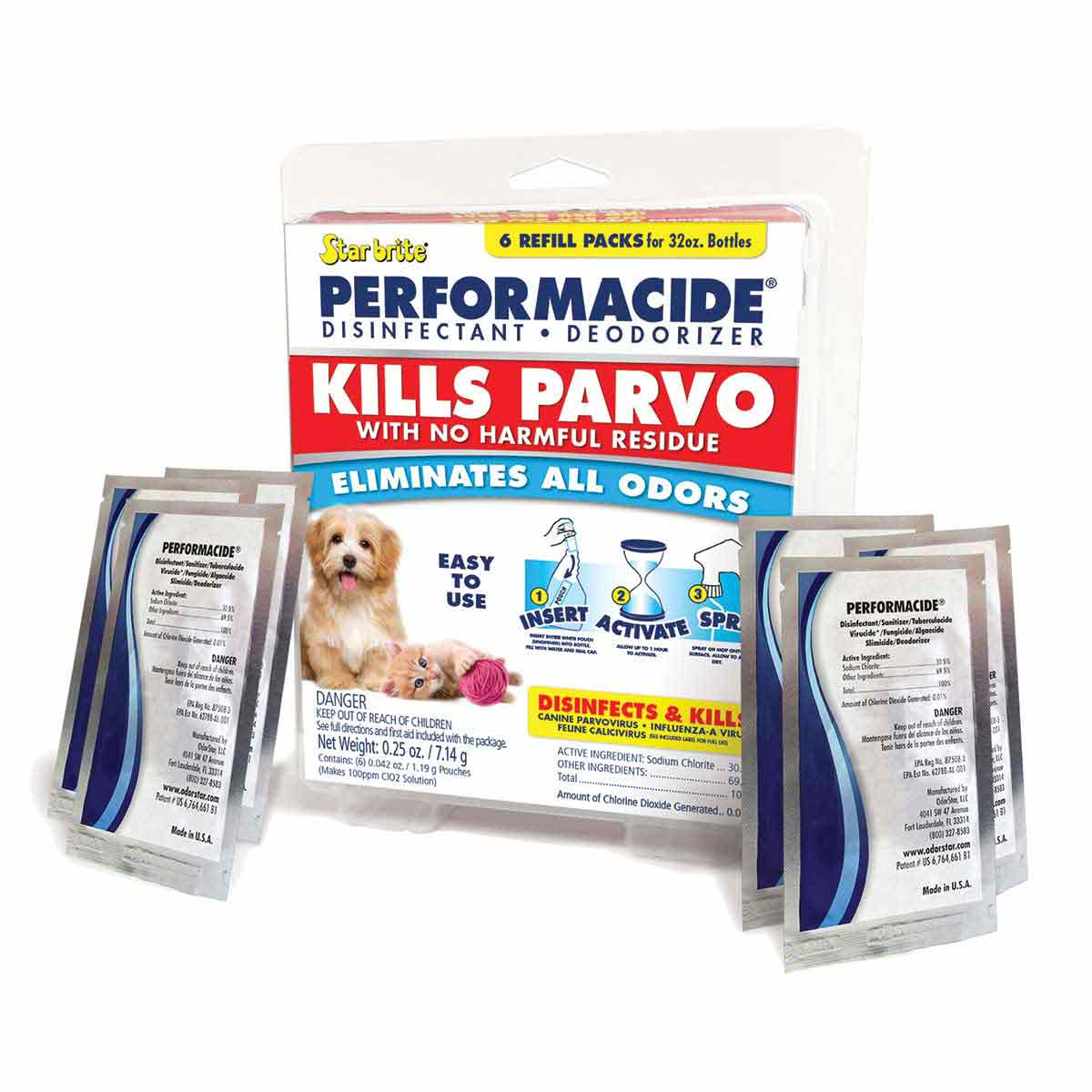 Star brite Performacide Disinfectant and Deodorizer Kills Parvo 32 oz Refill 6-Pack