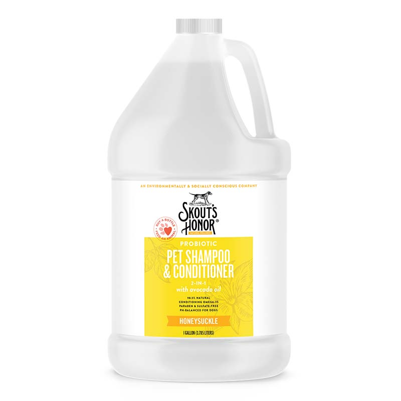 Skout's Honor Honeysuckle Shampoo Plus Conditioner Gallon at Ryan's Pet Supplies