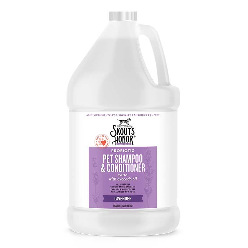 Skout's Honor Lavender Probiotic Shampoo Plus Conditioner Gallon at Ryan's Pet Supplies