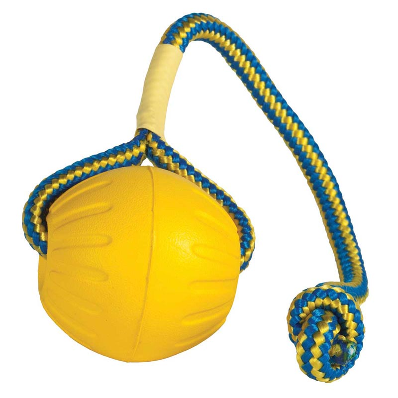 Large Starmark Swing and Fling DuraFoam Fetch Ball for Dogs