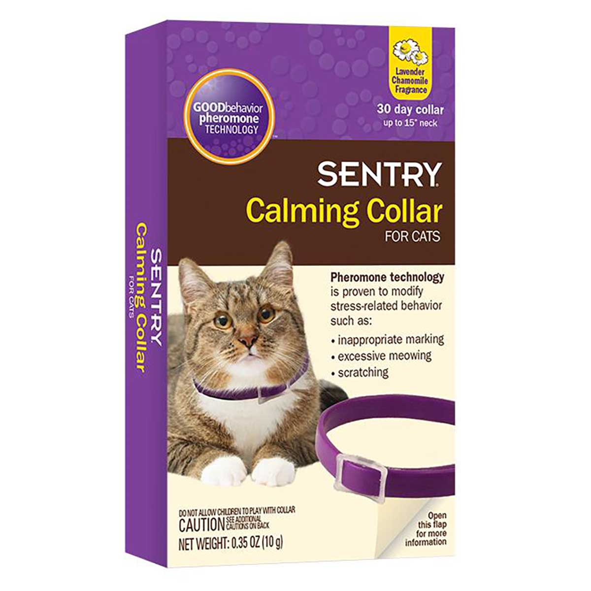 Sentry Calming Collars For Kittens & Cats Fits Necks Up To 15 inches