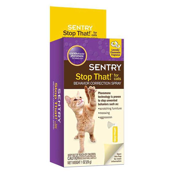 Sentry Stop That! Noise And Pheromone Spray Cat 1 oz
