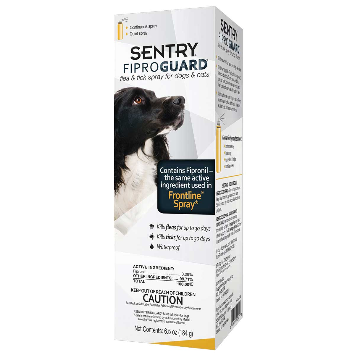 Sentry Fiproguard Spray For Dogs 6.5 oz