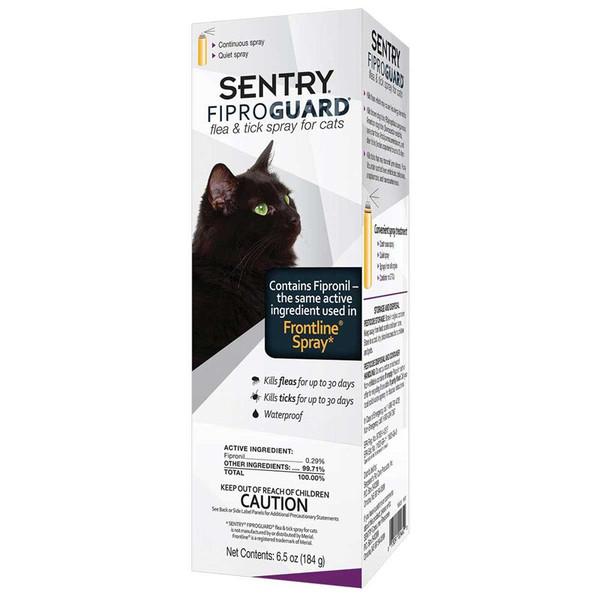Sentry Fiproguard Spray For Cats 6.5 oz - Kills Fleas and Ticks