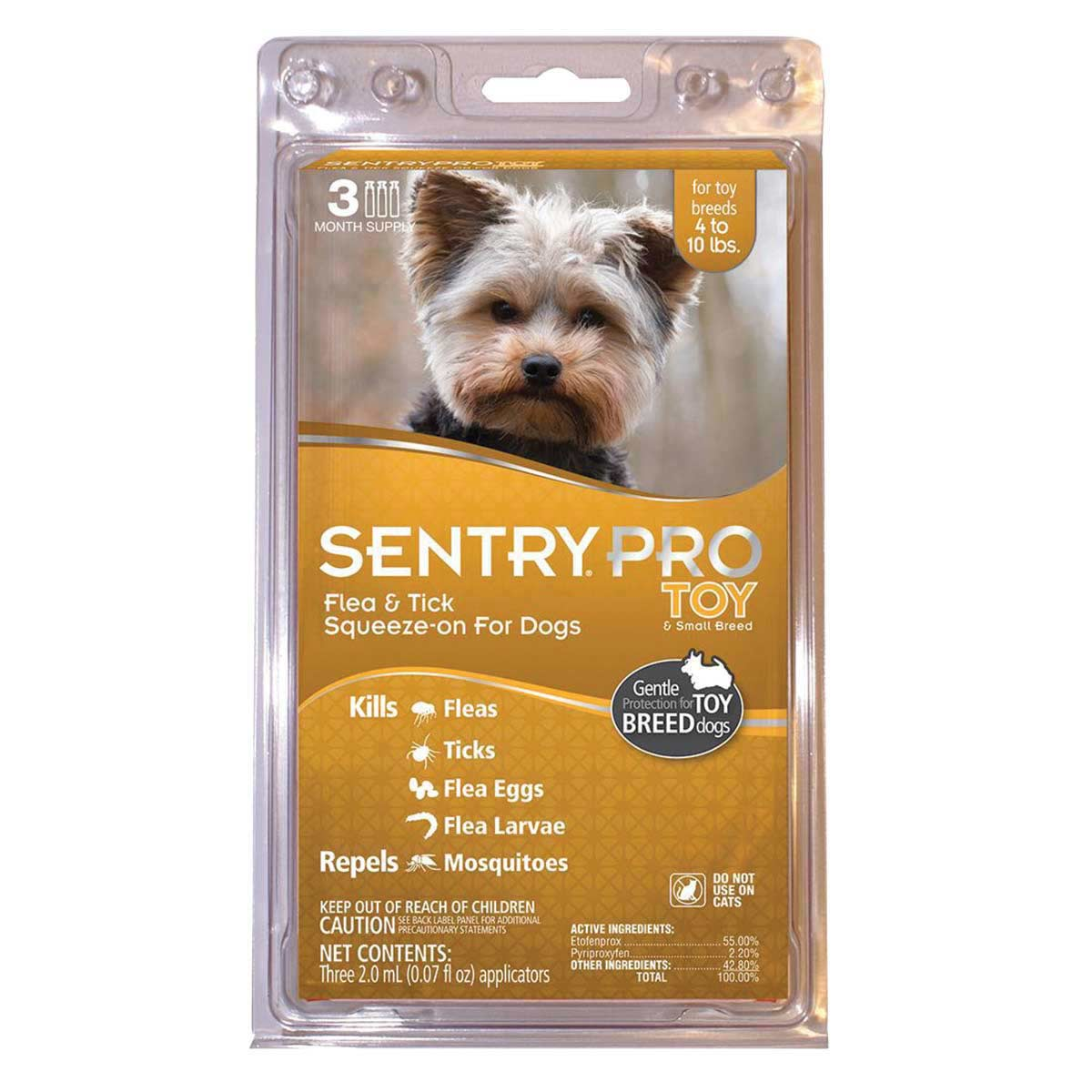SentryPro XFT Flea and Tick Treatment for Toy Breed Dogs 4-20 lbs