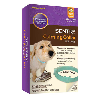 Sentry Calming Collars For Puppies and Dogs with Necks Up To 23 inch 3 Pack