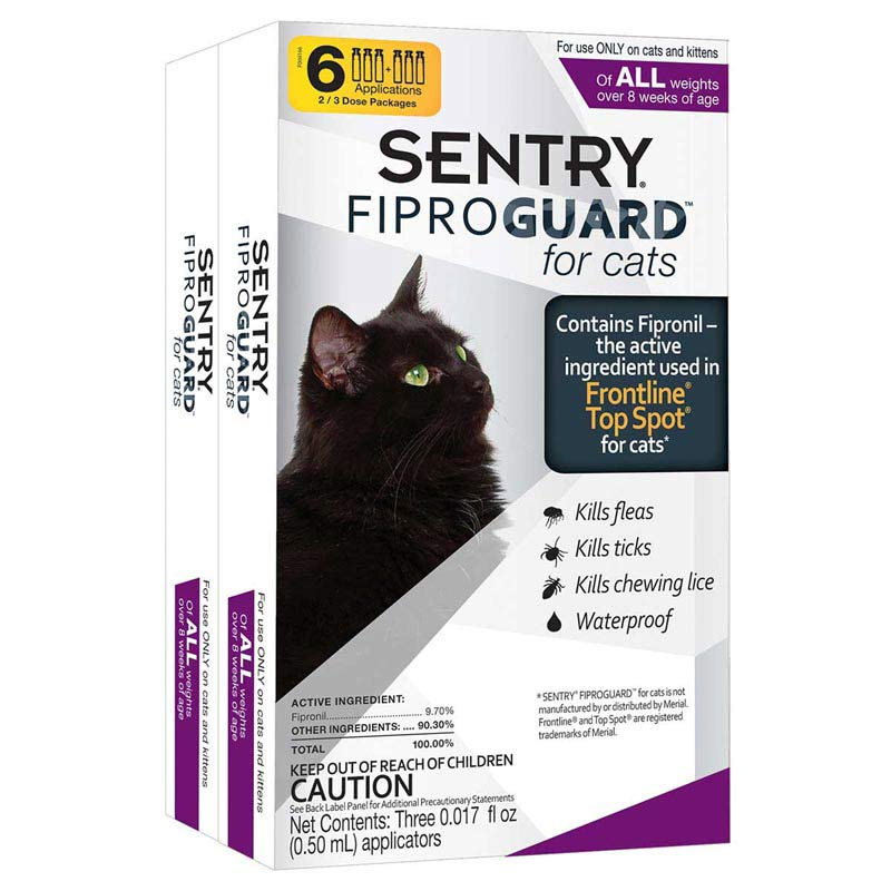 Sentry Fiproguard Cat All Sizes 6 Month Ormd