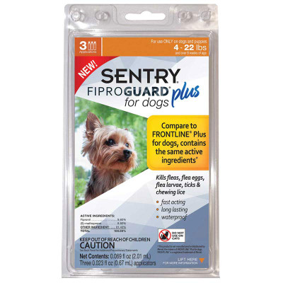 Sentry Fiproguard Plus for Dogs 4-22 lbs 3 Month