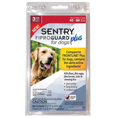Sentry Fiproguard Plus For Dogs 45-88 lbs 3 Month