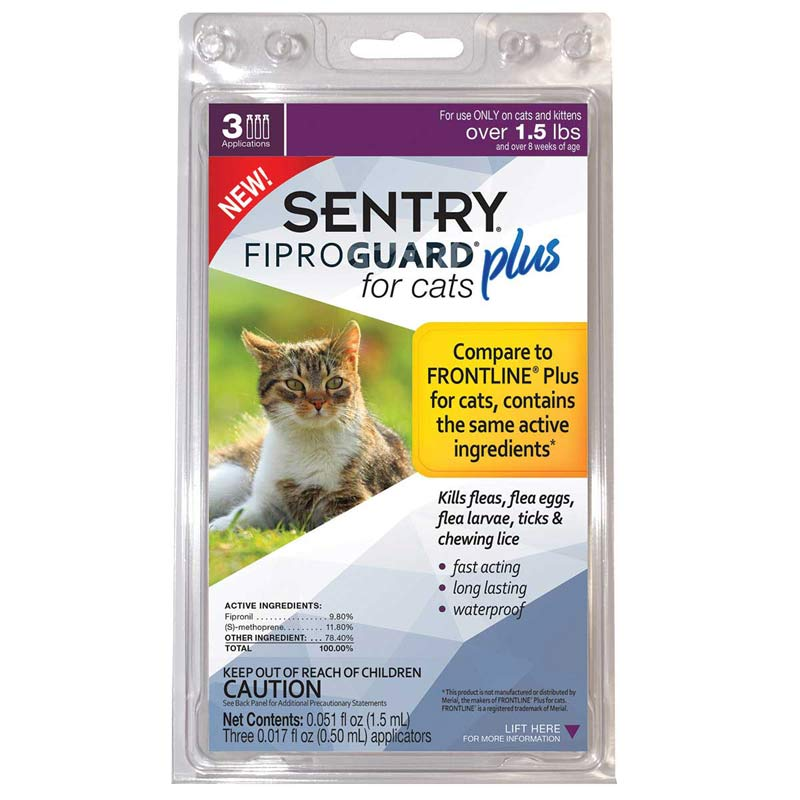 Sentry Fiproguard Plus For Cats Over 1.5 lbs 3 Month