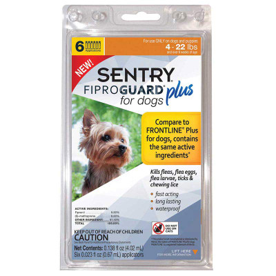 Sentry Fiproguard Plus for Dogs 6.5-22 lbs 6 Month
