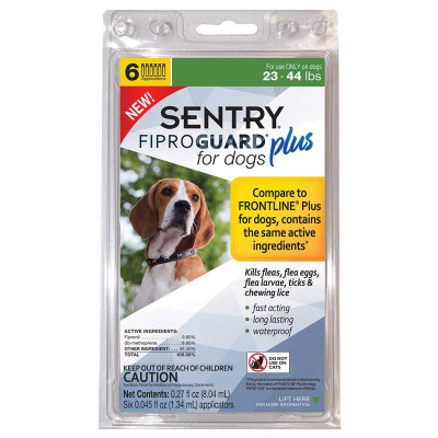 Sentry Fiproguard Plus For Dogs 23-44 lbs 6 Month