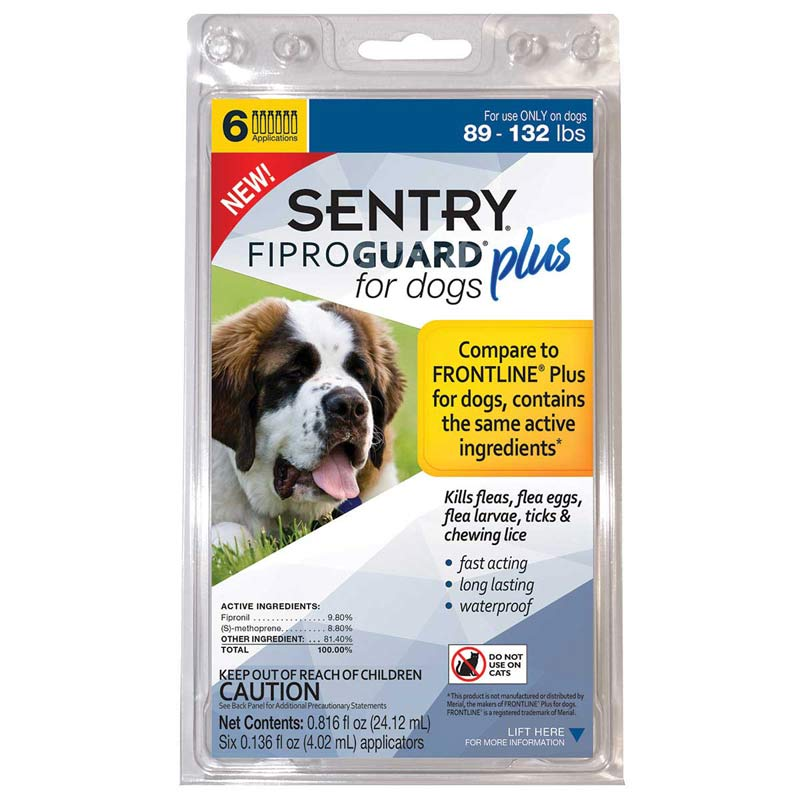 Sentry Fiproguard Plus For Dogs 89-132 lbs 6 Month