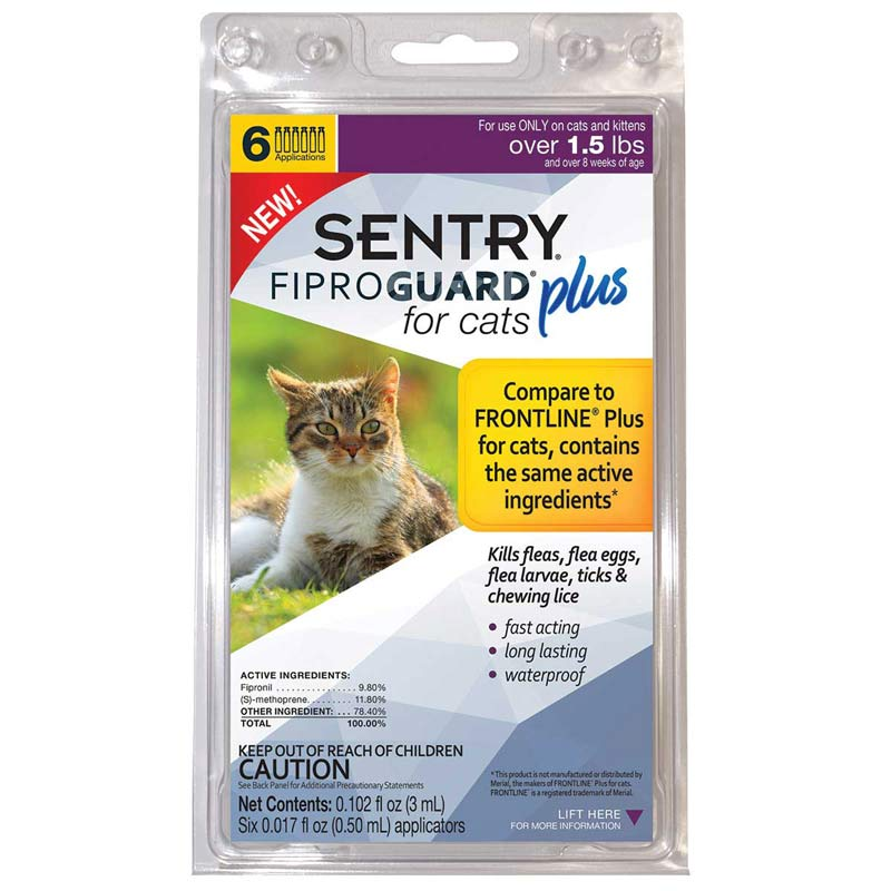 6 Month Sentry Fiproguard Plus For Cats Over 1.5 lbs